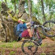 e-bike nel bosco monte amiata amiata bike resort amiata freeride